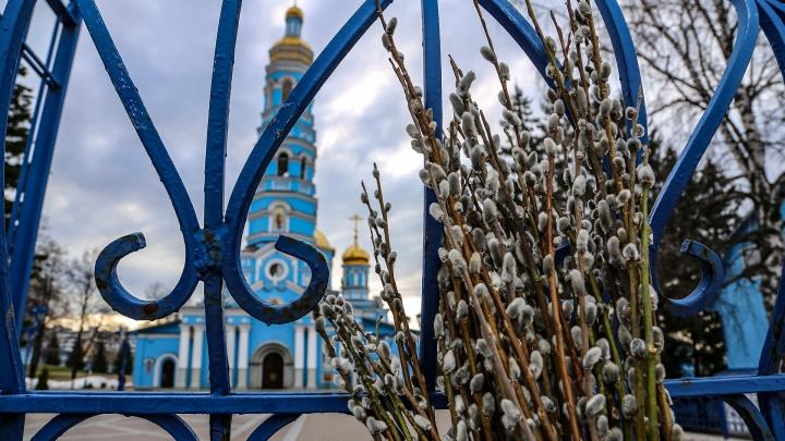 Самоизоляция? Меня бог бережет!: как православные уфимцы отметили Вербное воскресенье