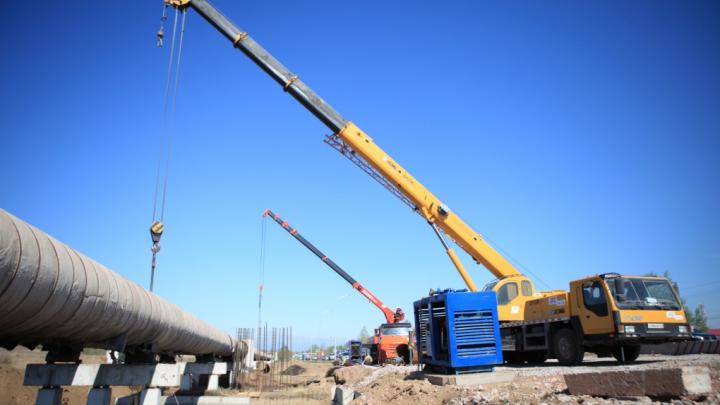 На Северном шоссе закончен перенос теплосети для строительства переезда в «Солонцы-2»