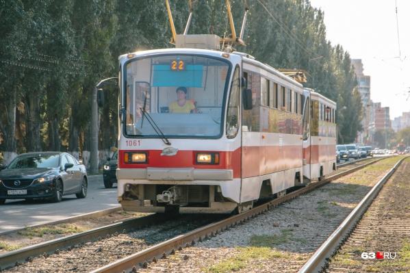 Трамвай № 22 временно будет курсировать по другому маршруту