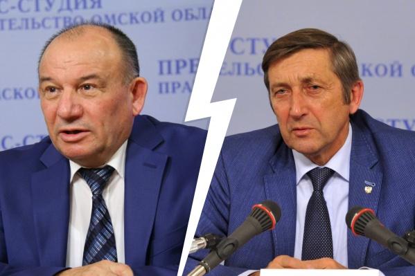Виктор Лапухин слева, Виктор Белов справа