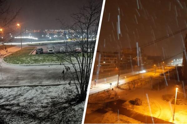 Прошедшей ночью на Северном Урале выпало очень много снега