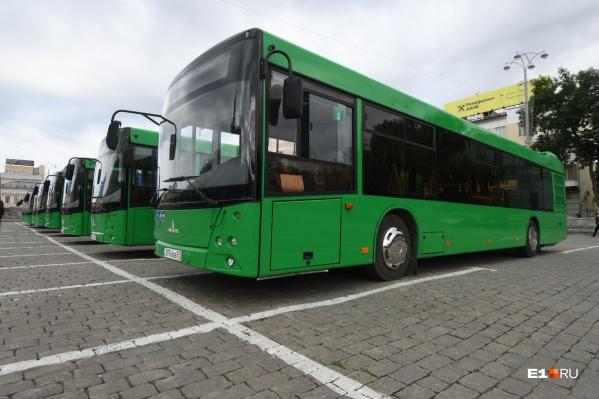 До 5 ноября в Екатеринбурге появятся еще 57 автобусов