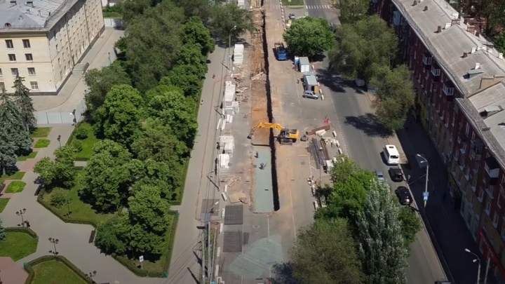 В Самаре из-за ремонта труб на Физкультурной продлят ограничение проезда