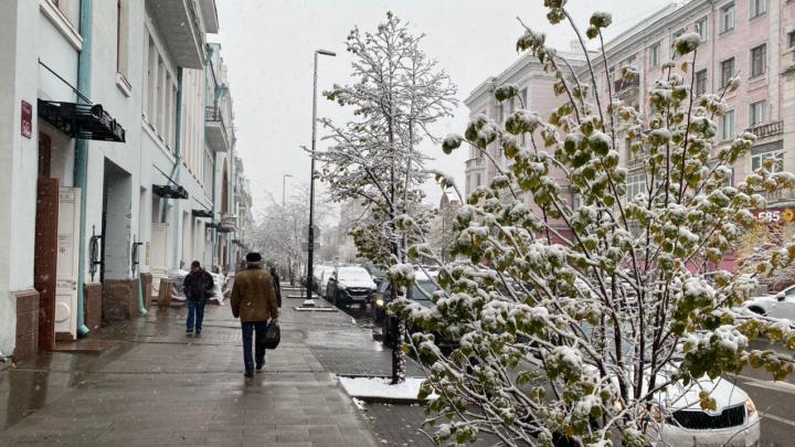 Дальше будет еще холоднее: синоптики назвали внезапный снег в крае аномалией