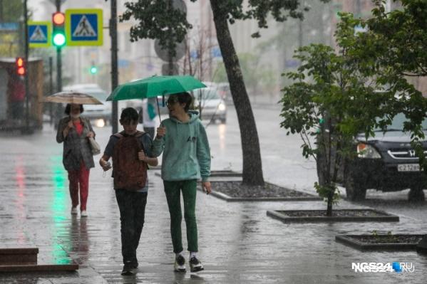 На следующей неделе в Красноярск снова вернутся дожди