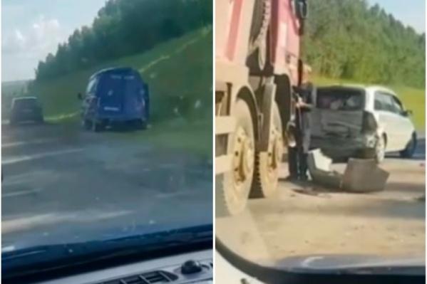 Авария произошла рядом с местом проведения дорожных работ