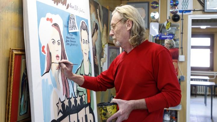 «Руку уже набил. Осталось только физиономию»: художник из Камышина рисует советские афиши к современным фильмам