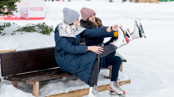 Где в Кемерово покататься на коньках: список крытых и открытых катков