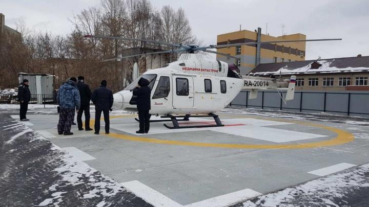В Челябинске открыли вторую вертолетную площадку для санавиации