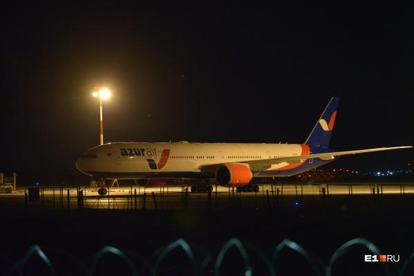 Самолет прибыл из Гуанчжоу