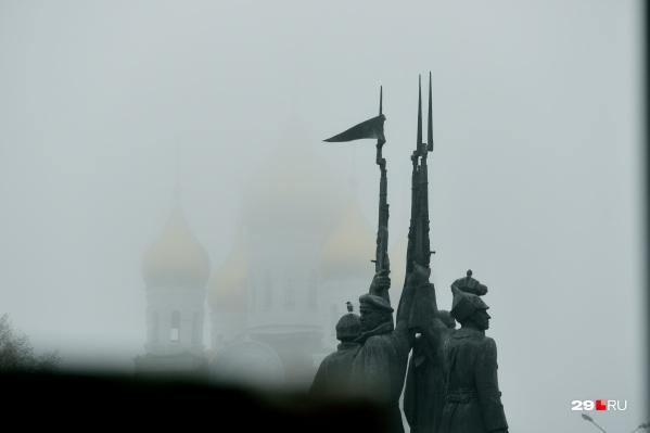 Ведь не так далеко друг от друга, а новый храм почти не видно