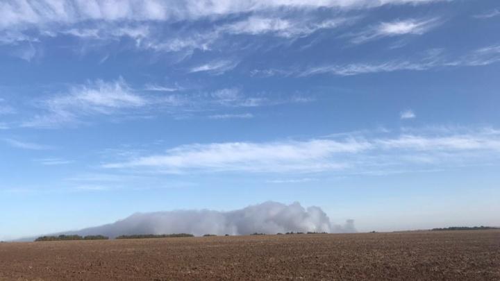 «Глаза разъедает от дыма»: густой смог от горящей свалки окутал Богородск и Дзержинск