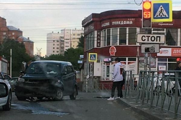Авария произошла в 19:30