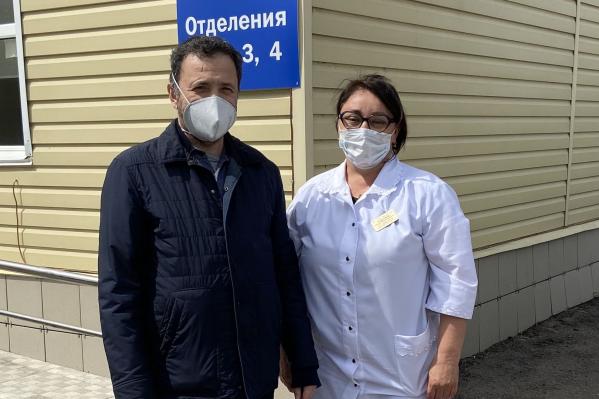 Политик поблагодарил врачей инфекционной больницы