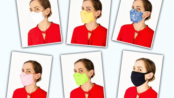 Магазин в центре Новосибирска завез большую партию многоразовых масок