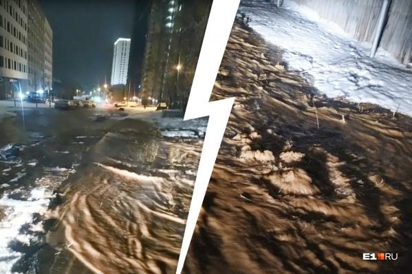 Несколько улиц затопило в ночь с 25 на 26 декабря