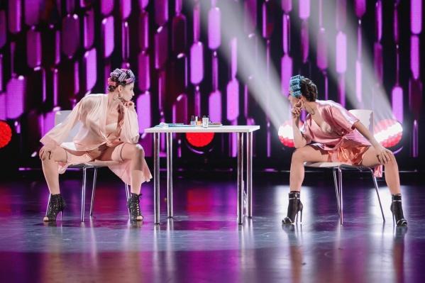 Омичка Лера Зубрилова на финальном отборе выступала в паре (на фото слева)