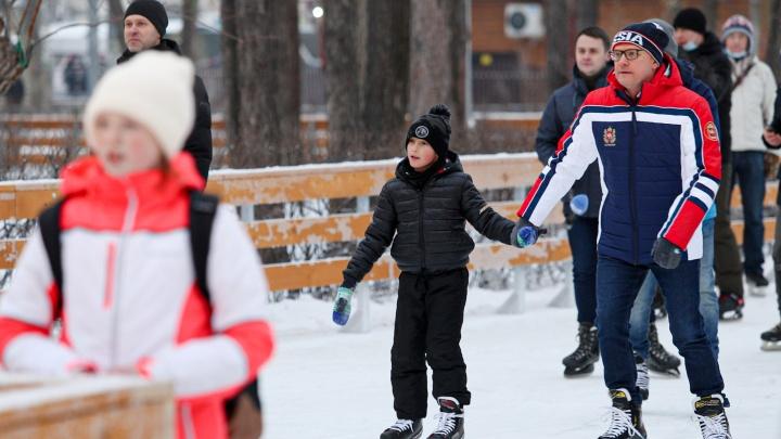 В Челябинске открыли новый каток в парке Терешковой. Там классно!