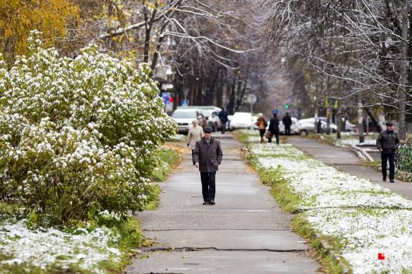 Выпавший снег будет тут же таять, поэтому снежный покров на земле не сформируется