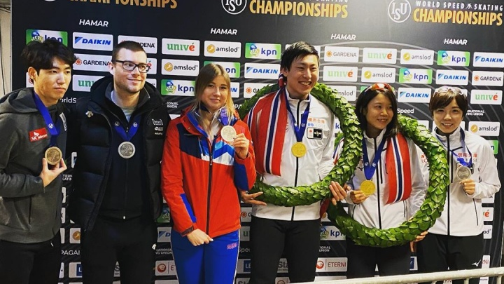 Челябинская конькобежка Ольга Фаткулина взяла медаль на чемпионате мира по спринтерскому многоборью