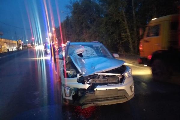 Водитель ехал на выезд из города со стороны Толмачевского шоссе