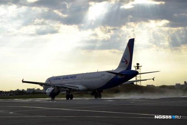 С минуты на минуту самолёт должен был приземлиться в Домодедово, но он пока ещё в Омске