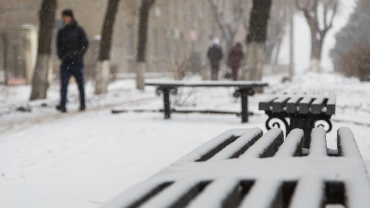 В Волгограде выпал первый снег