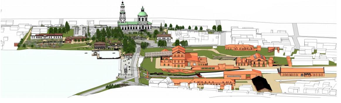 Исторический центр Сысерти, который хотят превратить в туристическое место. Обустроить набережную и сделать из завода культурный центр