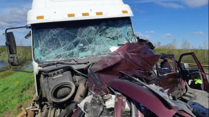 В Котласском районе при столкновении с грузовиком погибли двое человек