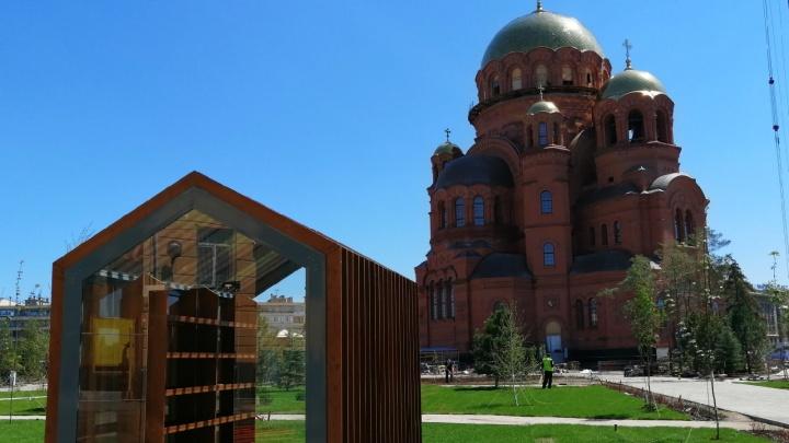 «Русский лес», газон и перголы с качелями: в центре Волгограда взялись за парк Героев у нового собора