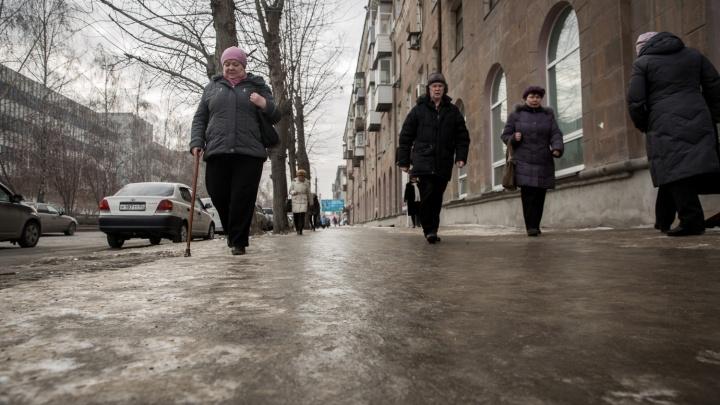МЧС предупредило новосибирцев о сильном ветре и гололеде