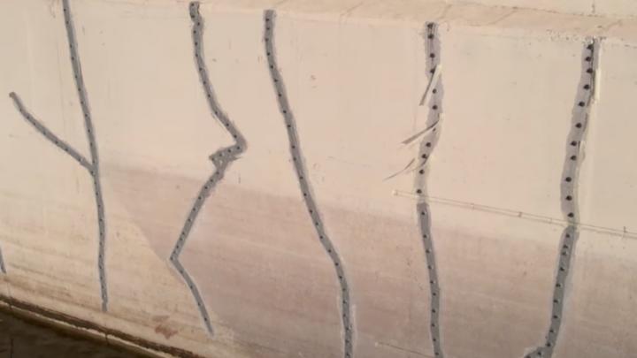 Трещины на Самарском (Фрунзенском) мосту сняли на видео