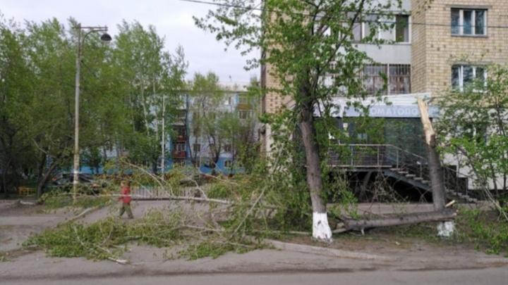 На Красноярск движутся сильный ветер и грозы