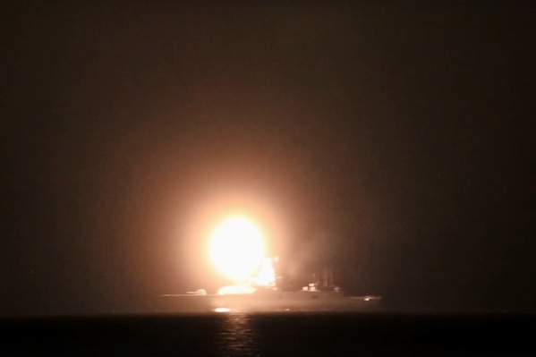 На видео запечатлен момент запуска ракеты «Циркон» с фрегата «Адмирал Горшков»<br>
