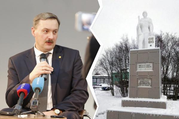 Глава Архангельска&nbsp;обещал вернуться к вопросу о ремонте памятника на Хабарке <br>