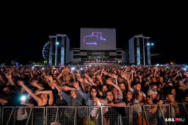 В прошлом году зрителейна Театральной площади развлекали Баста и группа «2Маши»