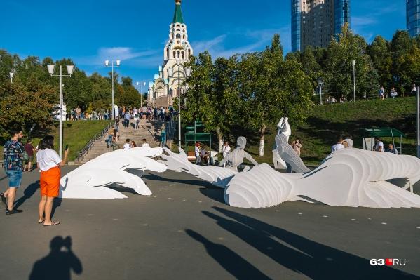 Артобъект «Контакт/Танец» мастеров из Томска стал одной из самых посещаемых площадок