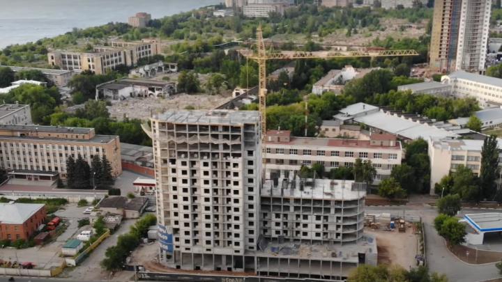 «Вторая Москва»: самарец показал с высоты строительство многоэтажки у волжских берегов