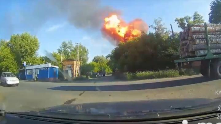 Момент взрыва газа в жилом доме в посёлке Береговом попал на видео
