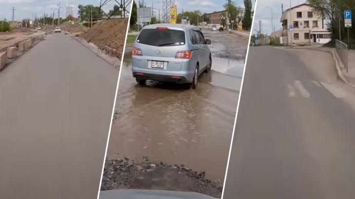 «Дорогу разбомбили?»: самарец показал, как реконструируют Заводское шоссе