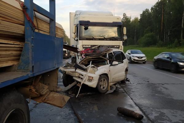 Авария произошла на 40-м километре Северного объезда