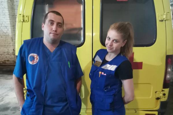 Фельдшер Данил Иванов и врач Евгения Заидова помогли молодой тюменке, которая была на грани смертельной опасности
