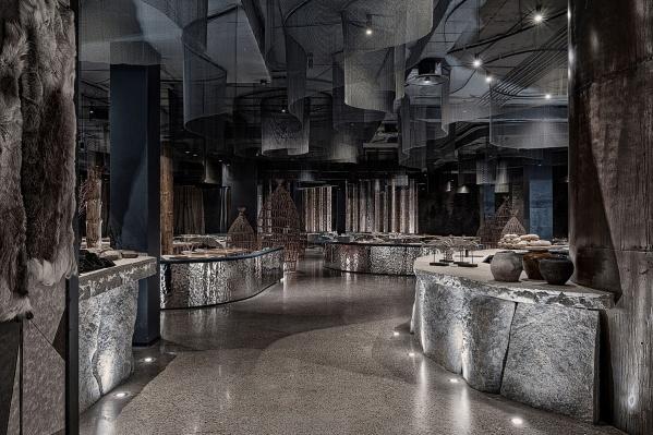 Интерьеры красноярского ресторана «Тунгуска»