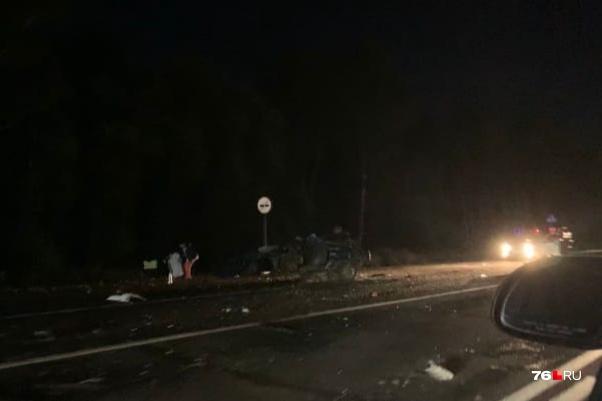 В аварии один человек погиб, четверо пострадали