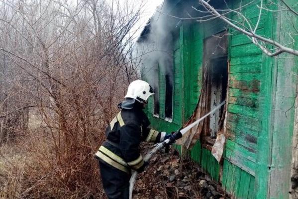 Мужчина задохнулся в дыму пожара
