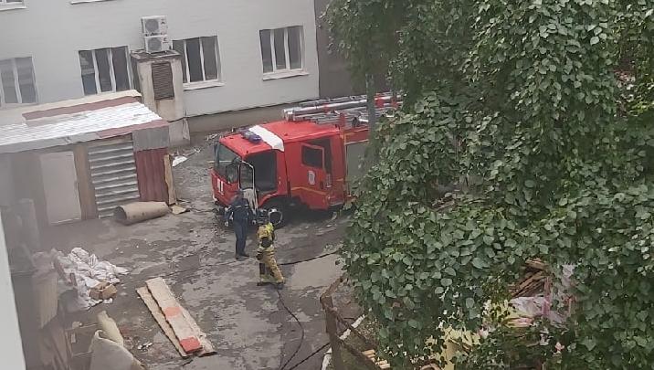 В центре Челябинска загорелась больница