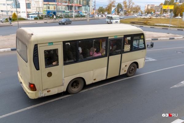 Машины ходят из города в отдалённую часть Самары