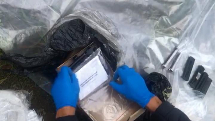 Силовики задержали банду торговцев оружием в Железногорске