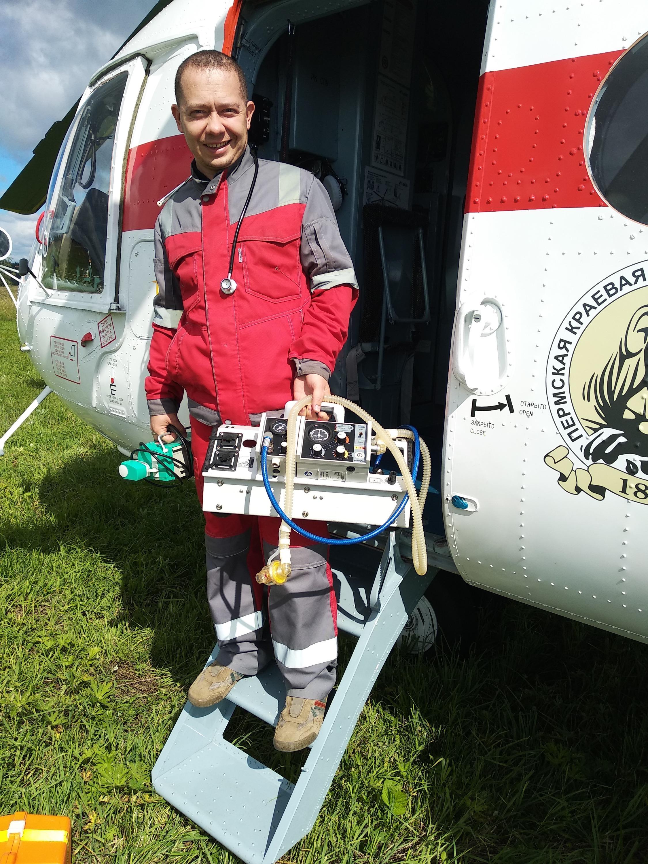 Юрий Курносов на авиатранспортировке
