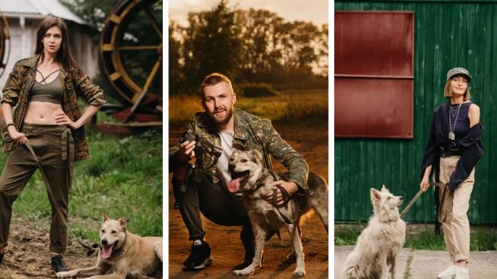 Кого заберете? Ведущие «Четвертого канала» провели фотосессию с бездомными животными